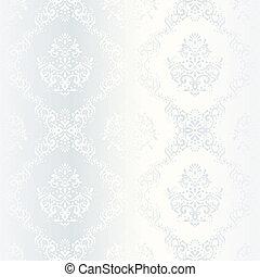 intricato, modello, raso bianco, matrimonio