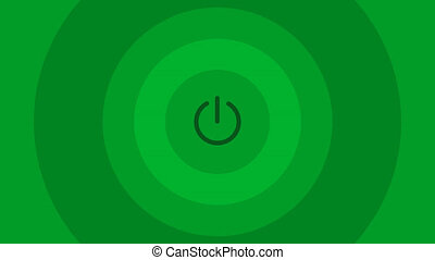 Intro in a simple flat design - green animated circles -...