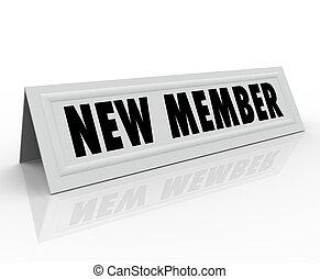 introdução, bem-vindo, membro, comitê, novo, associando