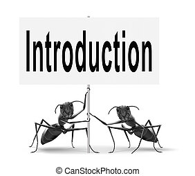 introduction or intro sign