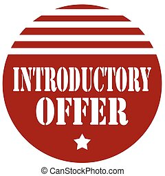 Label with text Introductory Offer, vector illustration
