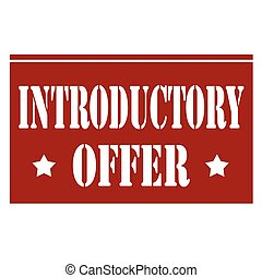 Red stamp with text Introductory Offer, vector illustration