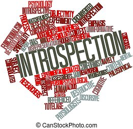 Introspection - Abstract word cloud for Introspection with...