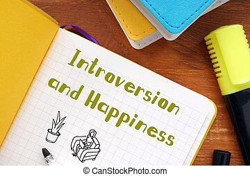introversión, motivación, inscripción, concepto, sheet., significado, felicidad