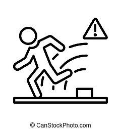 intruder alert illustration design