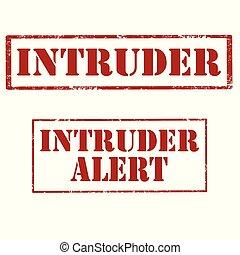 Intruder Alert-stamps