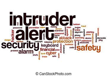 Intruder alert word cloud