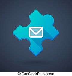 intrygować kawał, email, ikona, znak