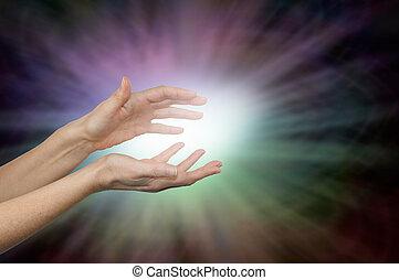 intuir, curación, energía