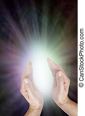 intuir, divino, curación, energía, luz