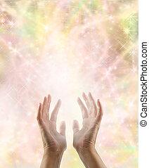 intuir, mágico, energía