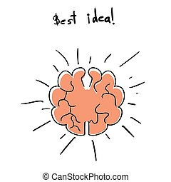 Intuition abstract concept - Brainstorming creative idea....