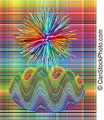 Intuition and creativity - Artwork symbolizing creativity,...