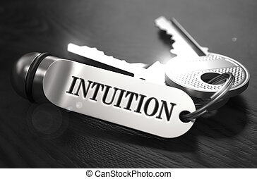 Intuition Concept. Keys with Keyring.