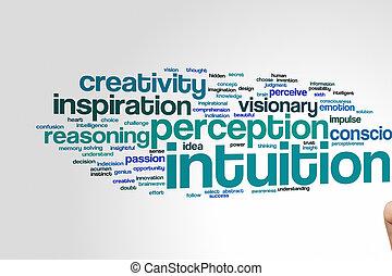 intuition, mot, nuage