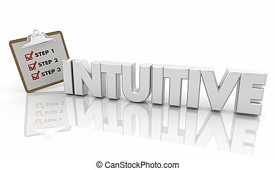 Intuitive Easy to Understand Follow Steps Word 3d Illustration