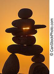 inukshuk, 石頭, 小雕像