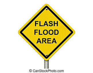 inundação, aviso
