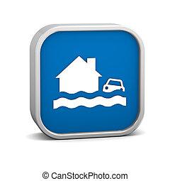 inundação, sinal