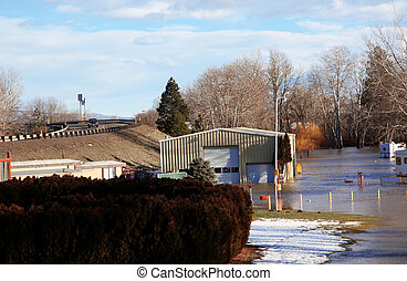 inundación, grande