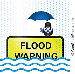 inundación, señal de peligro