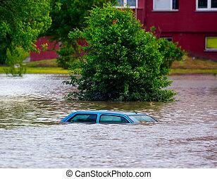 inundado, calle