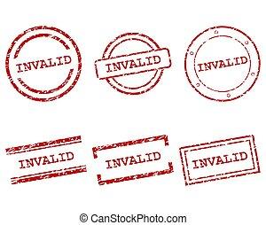 inválido, sellos