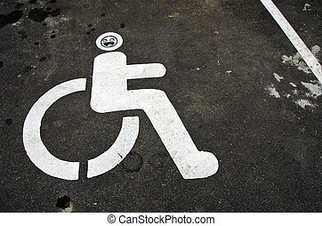 invalid car sign on asphalt