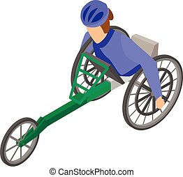 Invalid paralympic race icon, isometric style - Invalid...