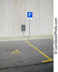 Invalid parking place