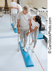 Invalid retirement using walking sticks