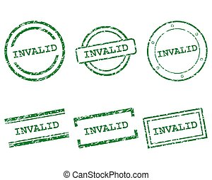 Invalid stamps