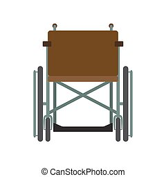 Invalid wheelchair front view isolated on a white background. Disability people transport.