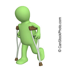 Invalid with crutches