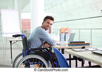 invalide, arbeider