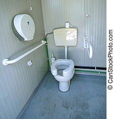 Invalide, toilet, badkamer, staaf. Toilet, badkamer, hotel, staaf ...