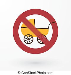 invalide, buggy, pictogram