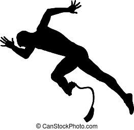 invalide, loper, sprint, start