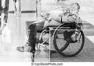 invalide, mensen, actief, voor, life.