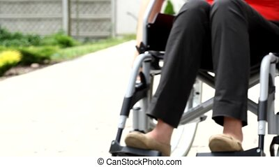 invalide, persoon, wheelchair