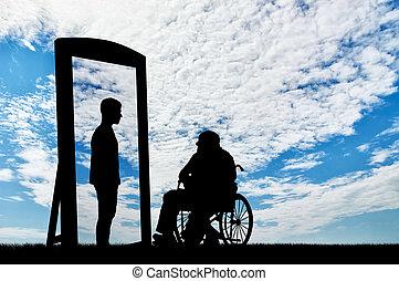 invalide, rehabilitatie, concept