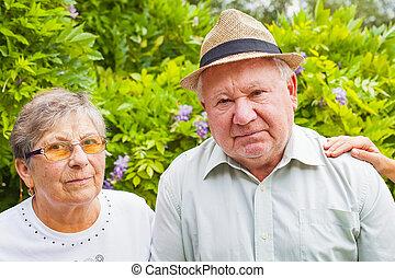 invalide, senior koppel