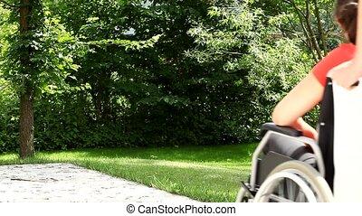 invalide, steunen, verpleeg patiënt