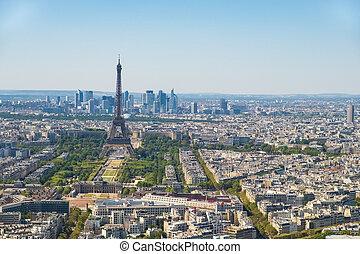 invalides, district, business, tour, paris, eiffel, paris, france, horizon, les, montparnasse, défense, vu