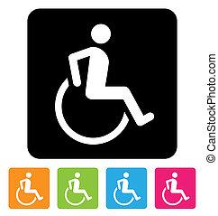 invalidiserade personer signerar