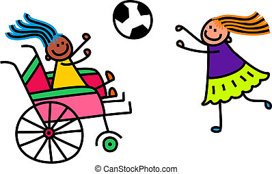 invalido, calcio, ragazza