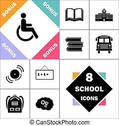invalido, computer, simbolo