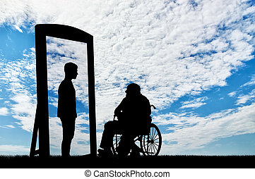 invalido, concetto, riabilitazione