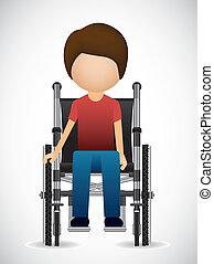 invalido, disegno
