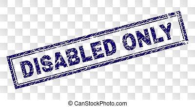 invalido, francobollo, soltanto, grunge, rettangolo